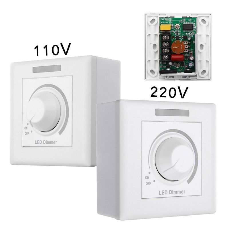 Max 150W Wall Dimmer Switch LED Dimmer With 12 Keys IR Remote Control For Dimmable Light Lamp Bulb 110V/220V