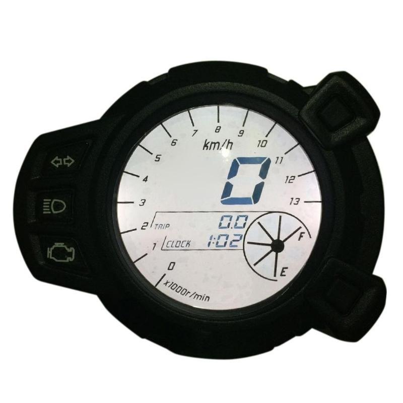 Motorrad LCD Digital Display Tachometer Drehzahlmesser Kilometerzähler 7 Farbe Ölstand RPM Geschwindigkeit Meter Instrument Für Yamaha BWS125