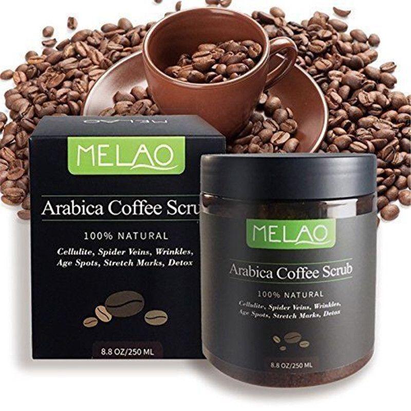 Arabica Café Corps Gommage Naturel De Noix De Coco Huile Corps Gommage Exfoliant Blanchissant L'humidité Réduire La Cellulite 250 ml Soins de La Peau