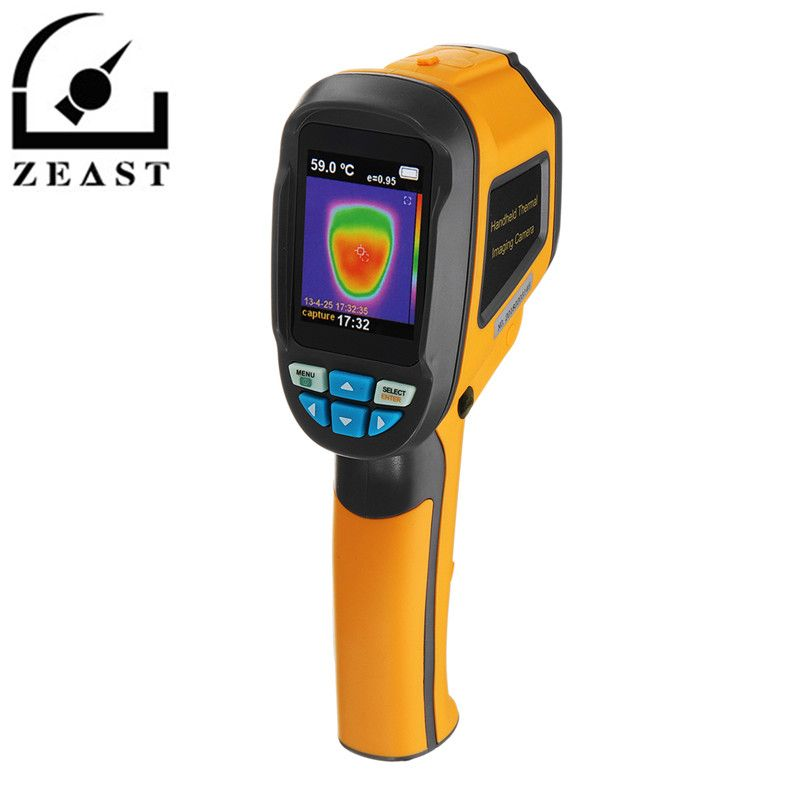 HT02 Handheld Thermograph Camera Infrared Thermal Camera Digital Infrared Imager Temperature Tester with 2.4inch LCD Display