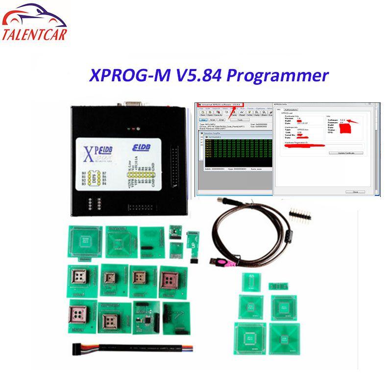 2018 New Version Xprog-m 5.84 X-prog V5.84 Auto ECU Programmer XProg 5.84 Box Higher Than Xprog 5.74 5.72 Chip Tuning Tool