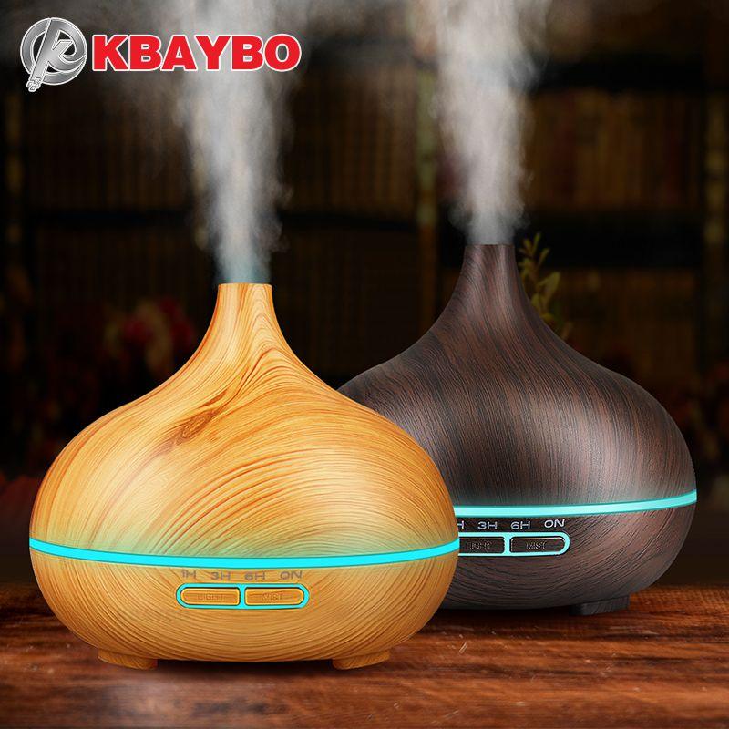 Huile essentielle Diffuseur Aromathérapie À Ultrasons Humidificateur Purificateur D'air pour Accueil Mist Maker Aroma Diffuseur Brumisateur LED Lumière 300 ML