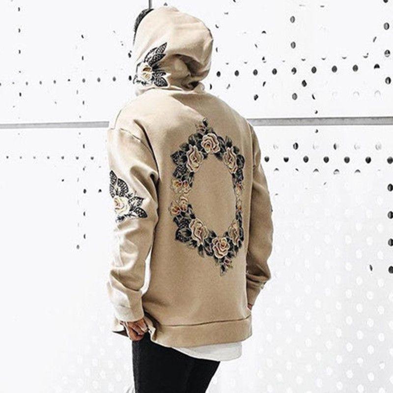 2018 neue Herren Frühjahr Langarm-kapuzenshirt Sweatshirts Gedruckt Absicherungs Kapuze Tops Stilvolle Mann Mäntel Outwear