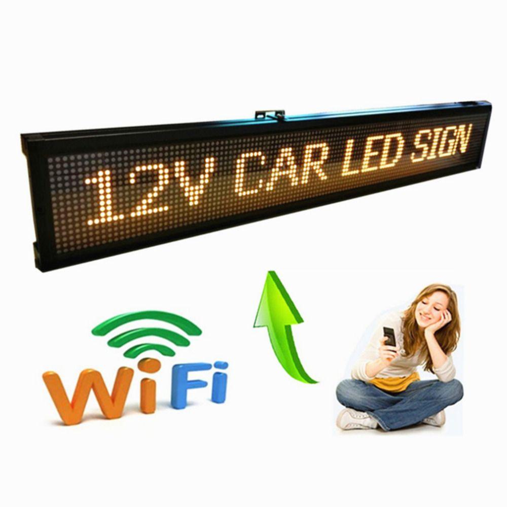 40 zoll 12 V 24 V Auto Beliebte wifi fernbedienung Programmierbare FÜHRTE Programmierbares Display panel/Auto zeichen/fahrzeug zeichen/fabrik display