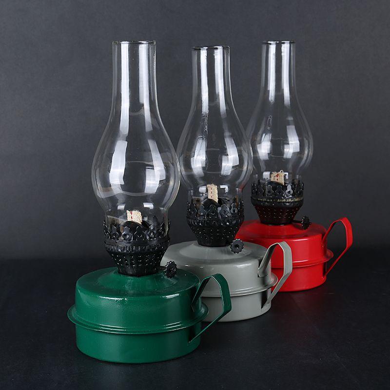 2019 dernière Style russe rétro classique kérosène lampe Camping et randonnée porte-lampe bougie lanterne tente lampe Film accessoires de tir