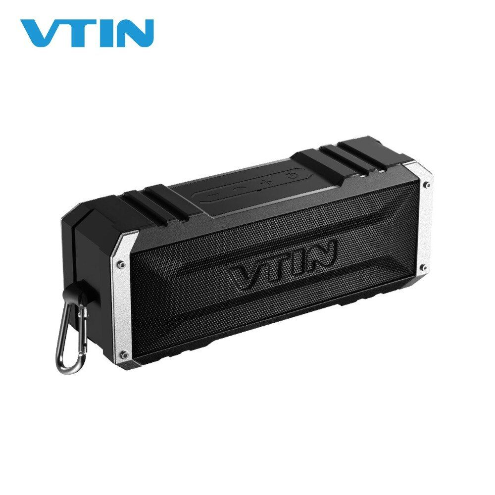 VTIN Punker Portable Wireless Bluetooth Speaker 20W Output Dual 10W Drivers Outdoor Waterproof Speaker with Mic for Smartphones