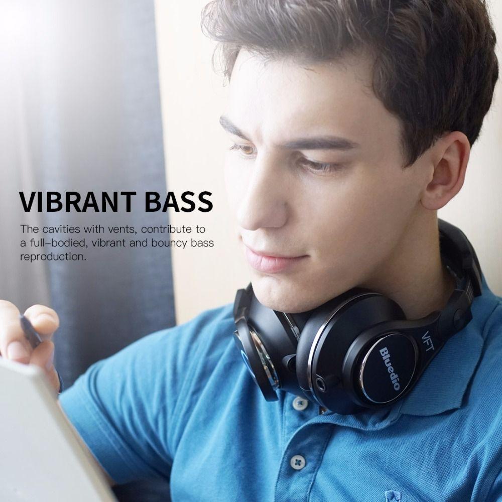 Bluedio U (UFO) Plus High-End Drahtlose Bluetooth kopfhörer PPS12 treiber HiFi Headset und mit mikrofon 3D Sound