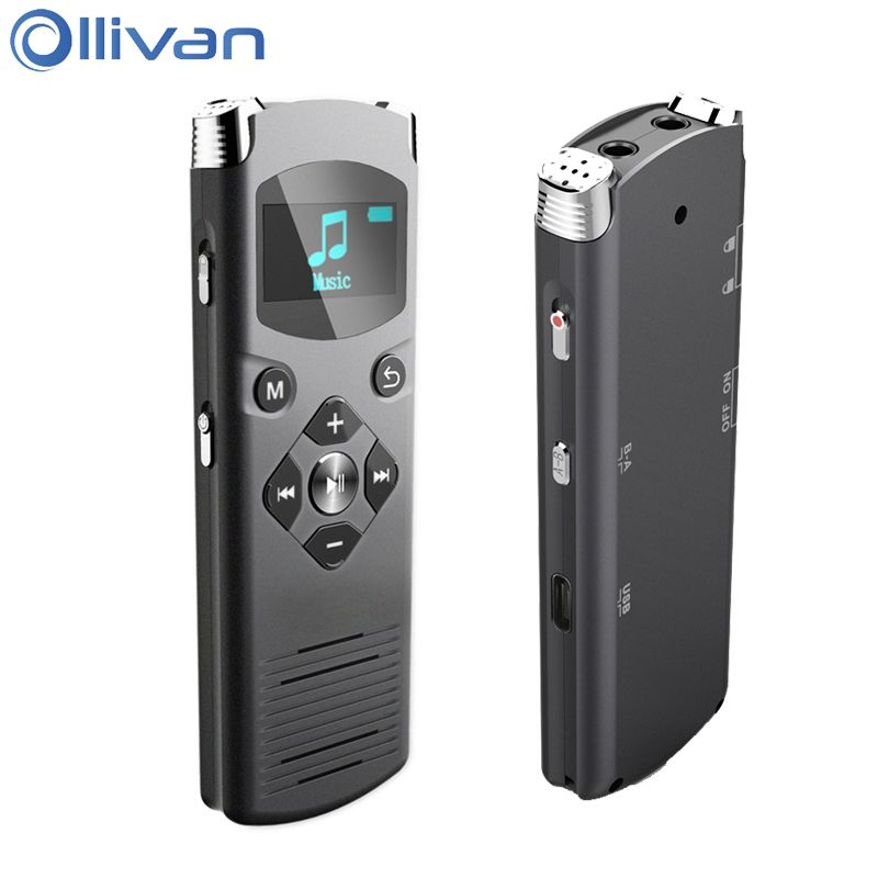 Ollivan DVR-616 Digital Voice Recorder 4 GB 8 GB 16 GB Professionelle Video Recorder Noise Reduction Voice Activated Für PC Android