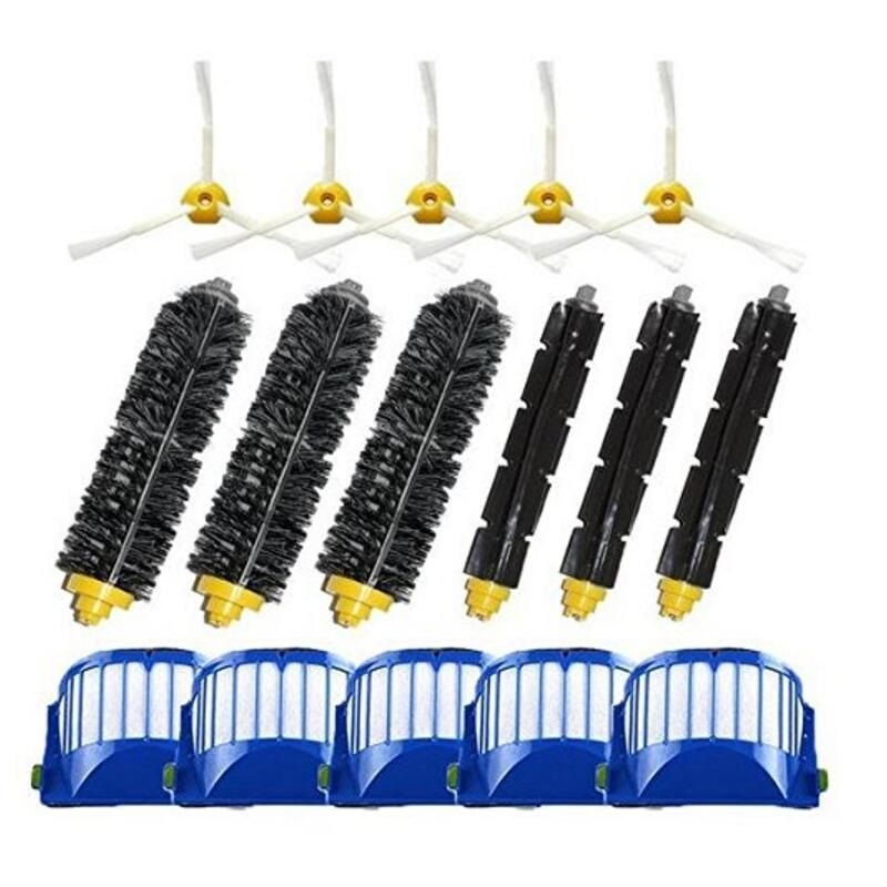 Filters and Brushes Replacement Kit for iRobot Roomba 500 600 Series (585 595 620 630 650 660 680 690) Vacuum Cleaning Robots