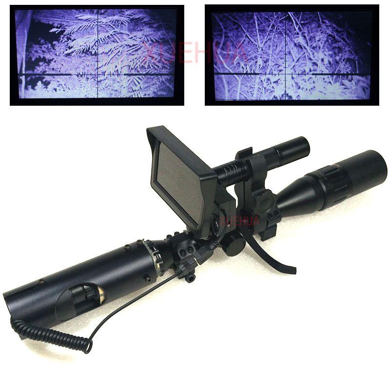 Les meilleures jumelles infrarouges tactiques de vue d'optique extérieure chaude de chasse vision nocturne avec l'affichage à cristaux liquides et lampe-torche pour la lunette de visée