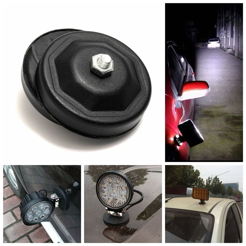 LED Lighting Bars Base Car Work Light Spotlight Strong Magnetic Base Offroad Roof Suction Cup Bracket For LED Light Bar QP245