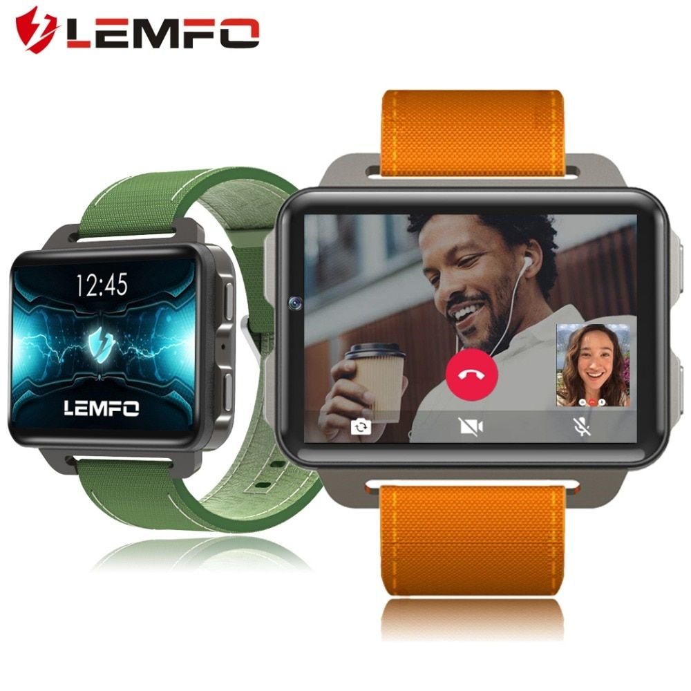 LEMFO 2018 New Arrival LEM4 Pro Smart Watch Android 5.1 Supper Big Screen 1200 Mah <font><b>Lithium</b></font> Battery 1GB + 16GB Wifi Take Video