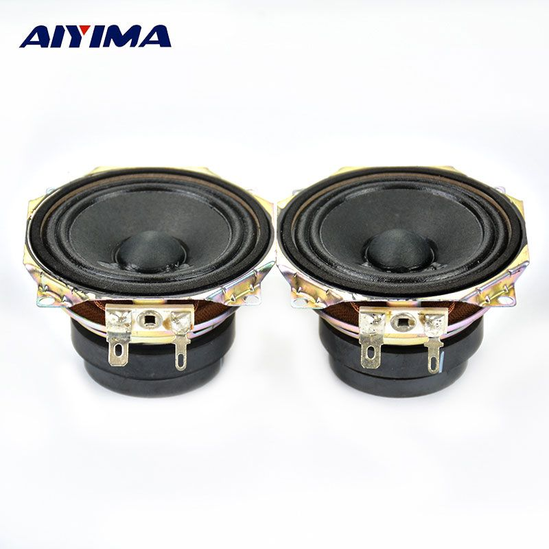 AIYIMA 2Pcs 2.5Inch Full Range Audio Portable Speaker 4 ohm 15 W Double Magnetic Steel Loudspeaker HT Home Theater Speakers