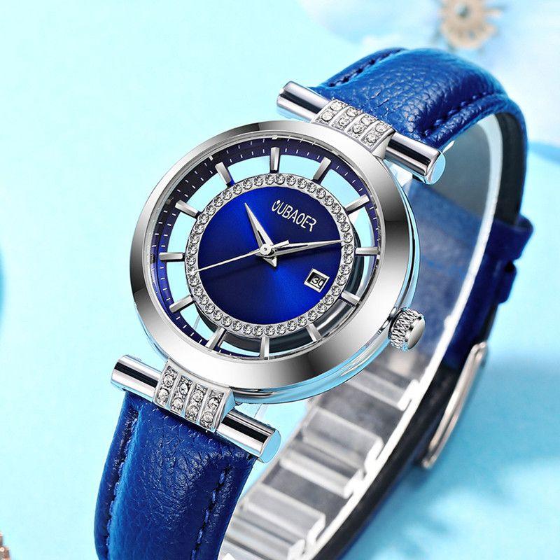 OUBAOER Top Brand Ladies Quartz Wristwatch Business Watches Women Fashion Clock Watch Gift For Women Relogio Feminino