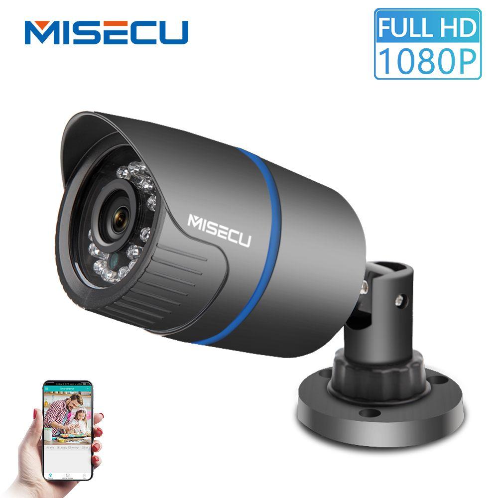 MISECU 2.8mm de large caméra IP 1080P 720P extérieur ONVIF P2P détection de mouvement RTSP alerte Email XMEye 48V POE Surveillance sécurité