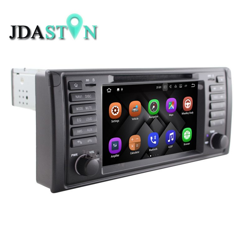 JDASTON 1 Din 7 Inch Android 7.1 Car CD DVD Player for BMW E39 X5 M5 E53 GPS Navigation Radio Multimedia CANBUS Bluetooth WIFI
