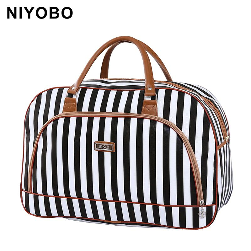 Women Travel Bags 2018 Fashion Pu Leather Large <font><b>Capacity</b></font> Waterproof Print Luggage Duffle Bag Casual Travel Bags PT1083