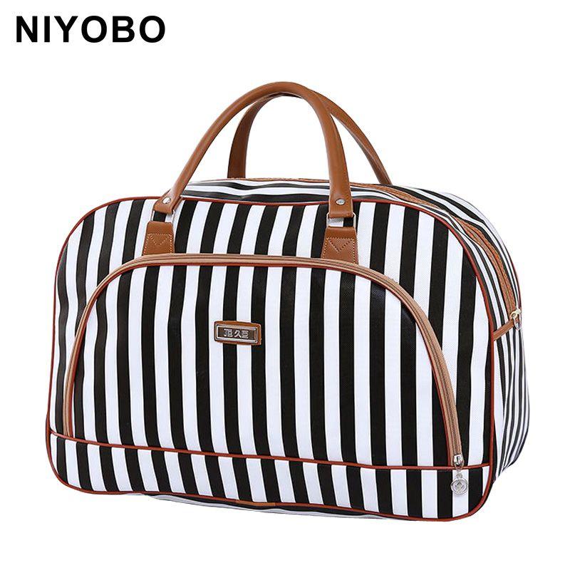 Women Travel Bags 2018 Fashion Pu Leather <font><b>Large</b></font> Capacity Waterproof Print Luggage Duffle Bag Casual Travel Bags PT1083