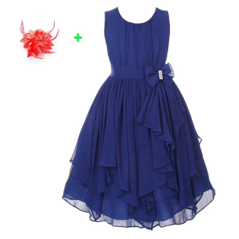 Мода 13 видов цветов летние платья для девочки Тюль праздничное платье шифон Лаванда бирюзовый Красный темно-синий цветок платья для девоче...