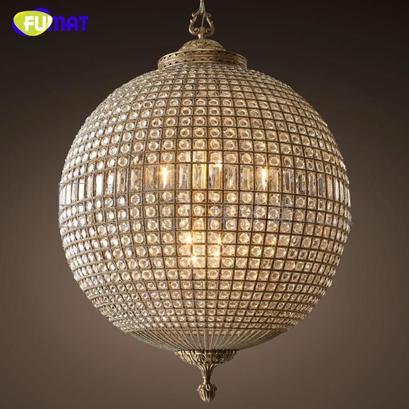 FUMAT moderne led Kronleuchter Amerikanischen Vintage Kristall Ball lampe für Wohnzimmer Esszimmer Bar Kunst Dekor hause beleuchtung