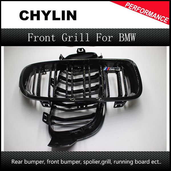 F30 F31 Dual Slat M Color Front Kidney Grill Grille for BMW F30 F31 F35 2012 - 2015 3 Series 316i 316d 318d 320i 325d 328i 335i