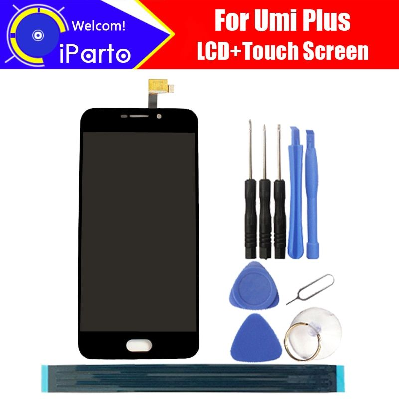 5.5 inch Umi plus LCD Display+Touch Screen Glass 100% Original Tested Digitizer Glass Panel Replacement For plus +Tools+Adhesive