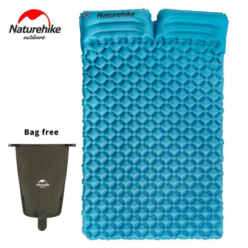 NatureHike Außen Aufblasbare Ultraleicht Doppel Isomatte 2 Person Camping Pad Matte Zelt Luftmatratze Mit Kissen
