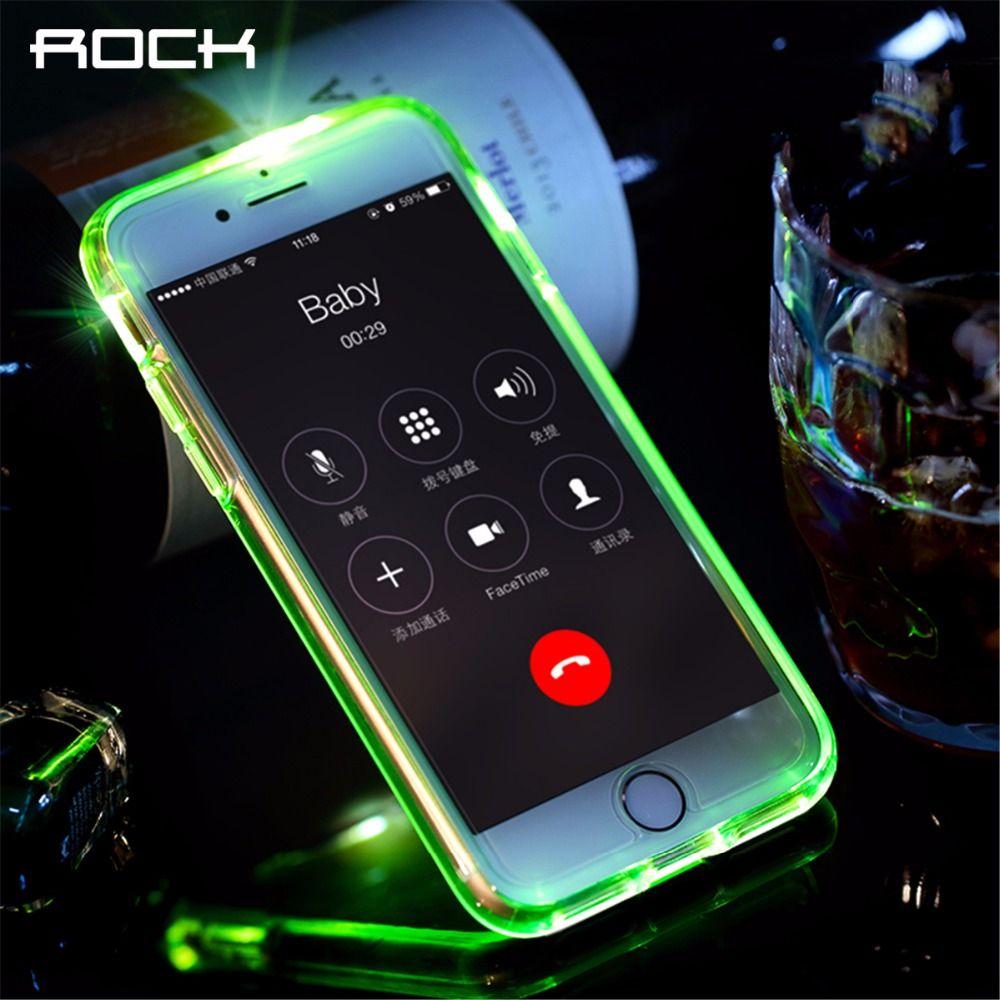 ROCK Led Flash Téléphone Cas pour iPhone 7 plus, lumière Flash Appelant avis Tube série téléphone cas pour iPhone 7 7 plus la couverture