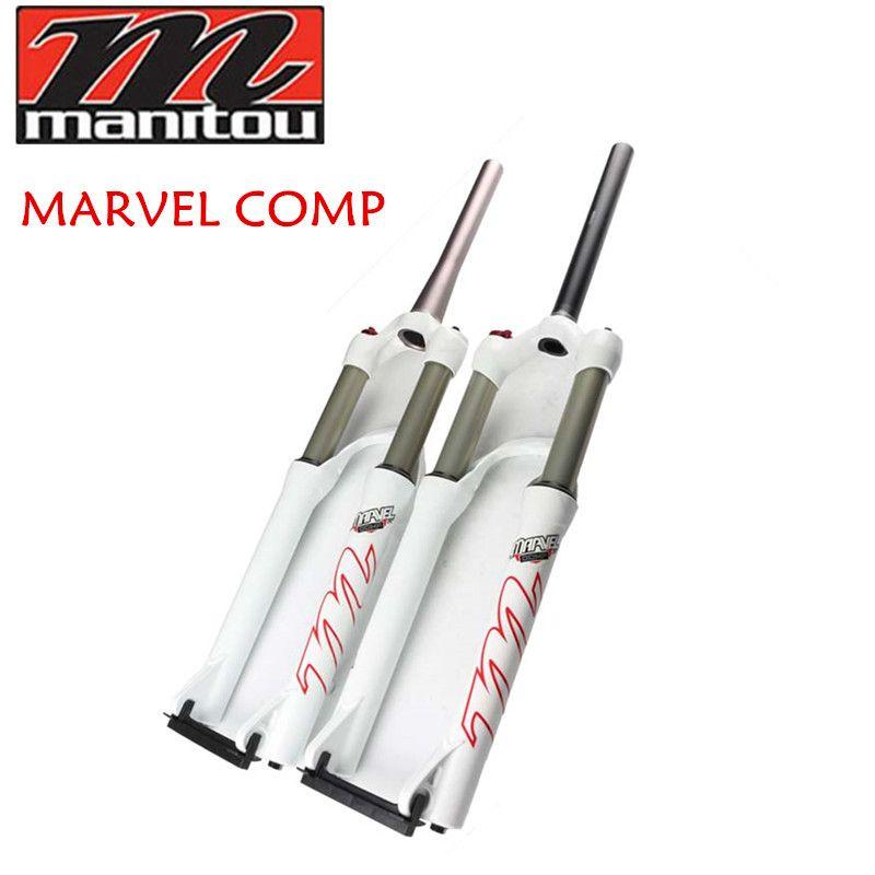 Meilleur prix! Manitou Marvel Comp 26er VTT vélo vtt Suspension fourche couleur blanche droite/conique tuyau
