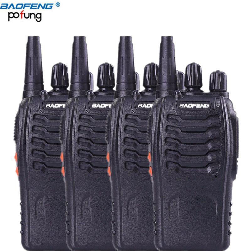 4pcs Baofeng 888s radios walkie talkie 1800mAh battery power 5w UHF 400-470MHZ ham radio transceiver Handheld Pofung bf 888s
