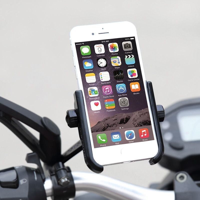 Scooter Mirror Mount Phone Holder Motorcycle Rear View Cell Phone Stand Mount for 4-6.6 inch Mobile Devices