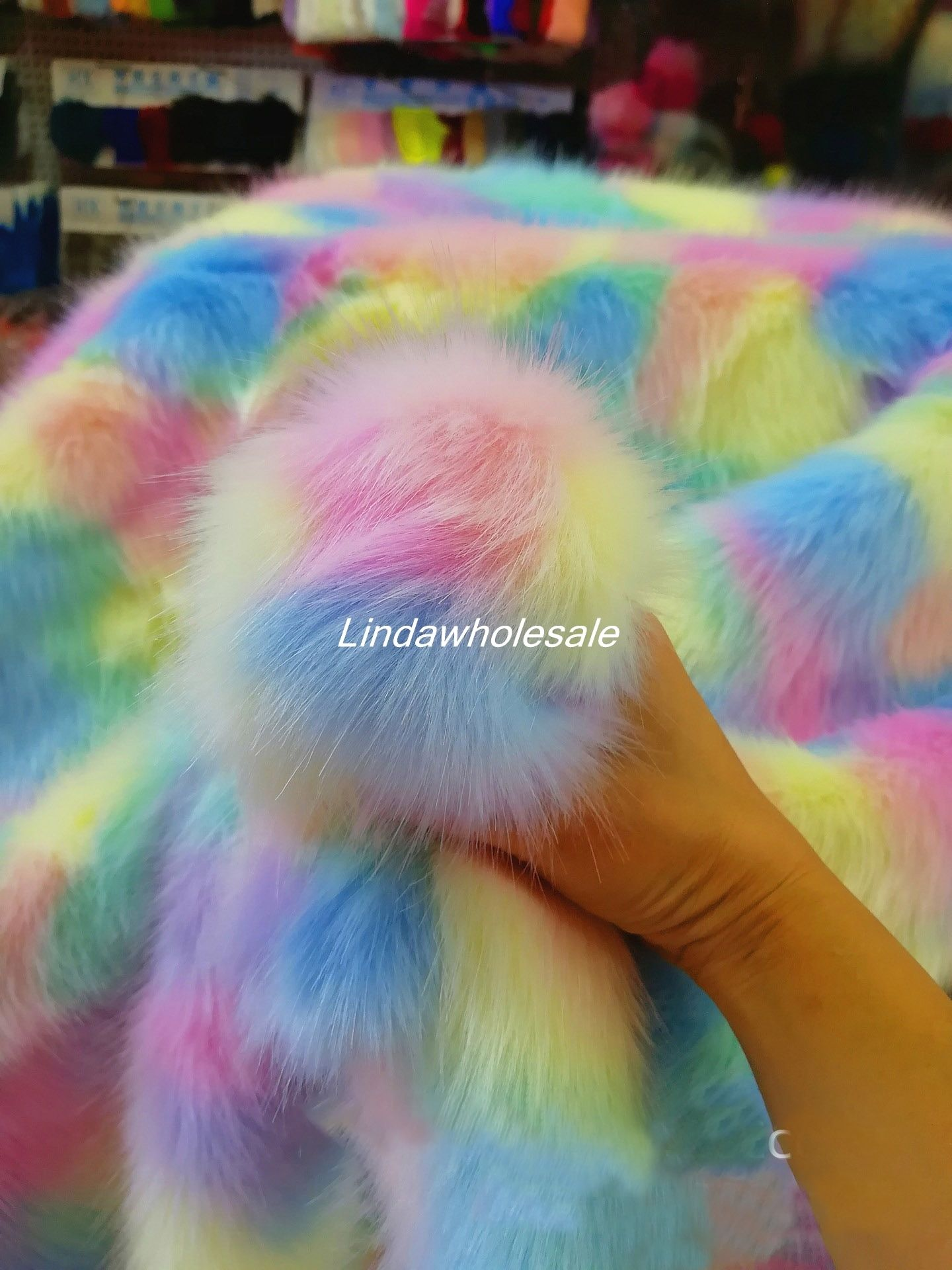 Regenbogen plüsch Jacquard stoff Multicolor fuchs pelz, fühlte tuch, faux pelz stoff. kleidung zubehör, 170 cm * 90 cm (hof)/stücke