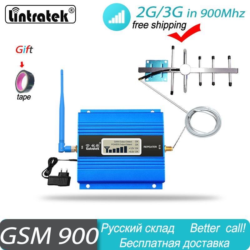 Affichage LCD GSM 900Mhz téléphone portable amplificateur de Signal cellulaire GSM 900 répéteur de Signal amplificateur de téléphone portable ensemble d'antenne pour la maison #40