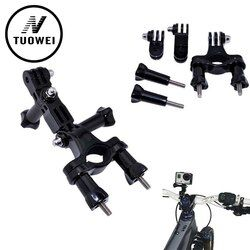 TUOWEI For GoPro Accessories Bike Motorcycle Handlebar Seatpost Pole Mount & 3 Way Adjustable Pivot Arm for Go pro Hero 5 4 3 3+