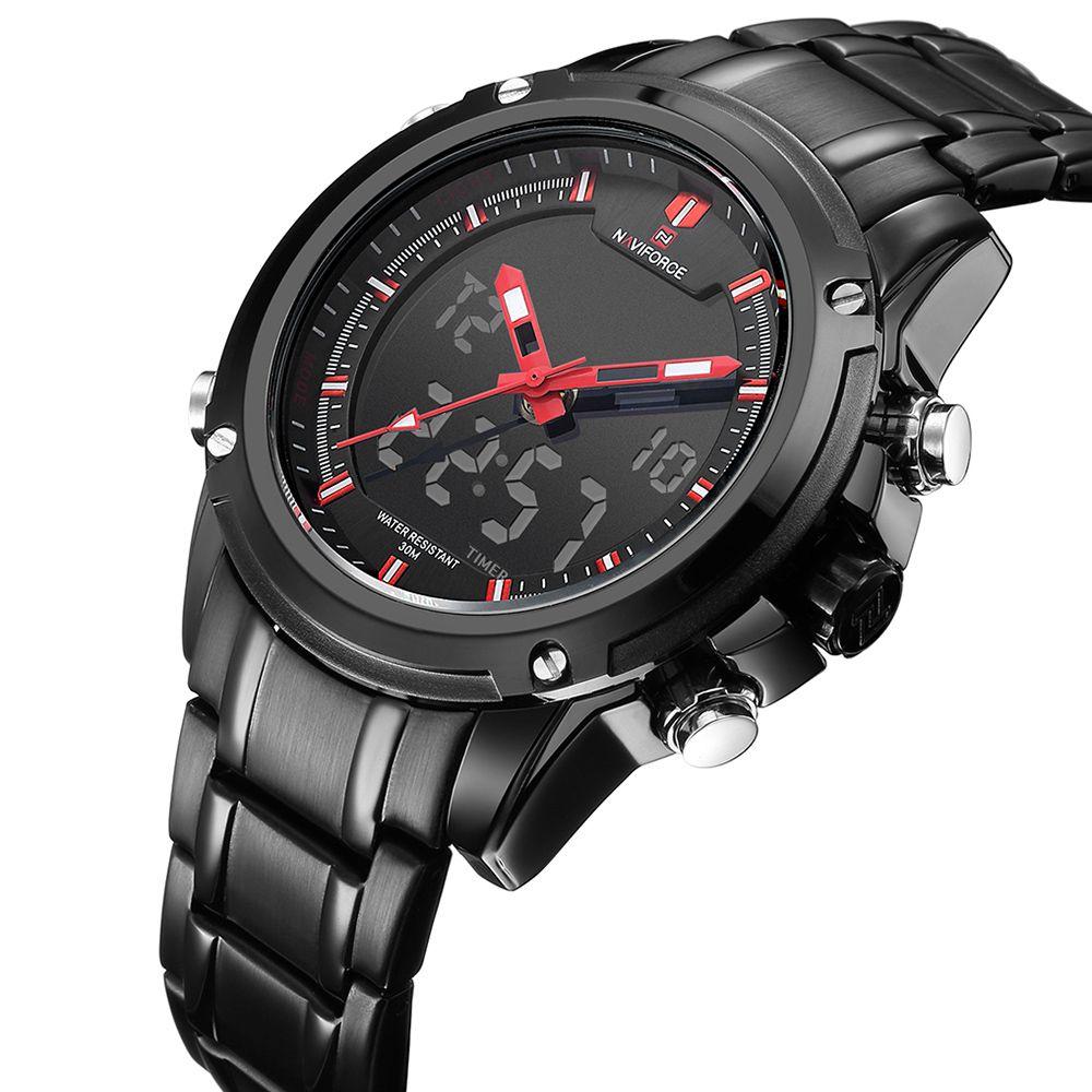 Новый Топ Элитный бренд naviforce Для мужчин Водонепроницаемый спортивные Военная Униформа Часы Для мужчин кварцевые часы аналоговые наручные ...