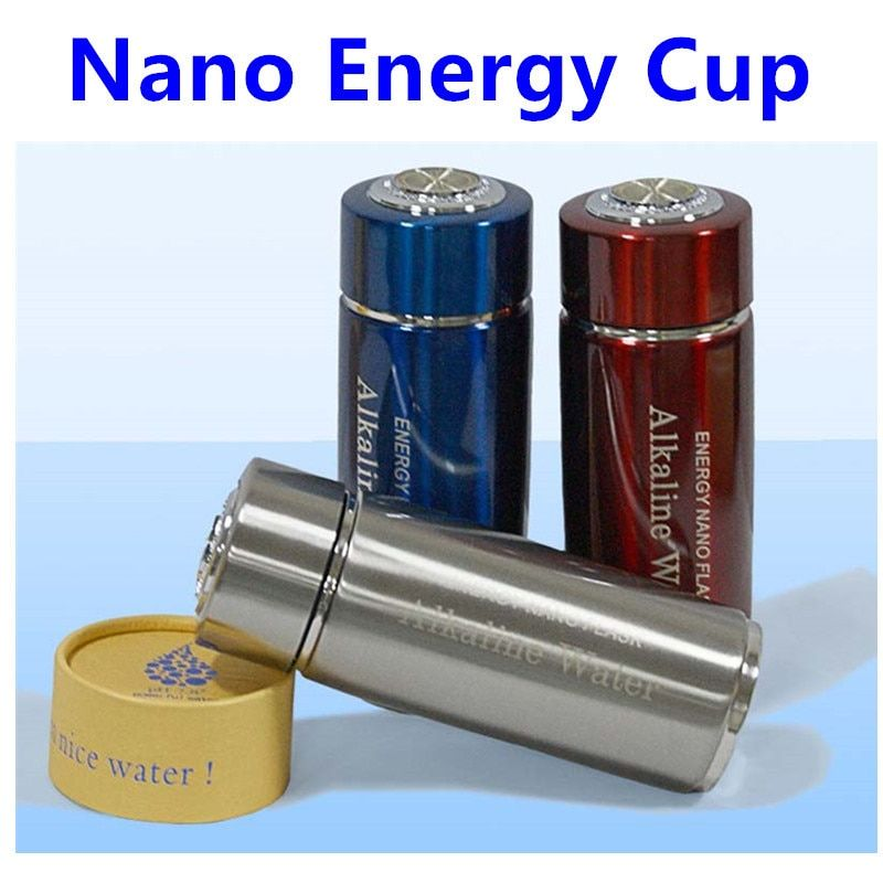 1 Piece Energy Cup Alkaline Water Cup 304# Stainless Steel 380ML Nano Energy Cup Alkaline Ionizer Water Bottle for Good <font><b>Health</b></font>