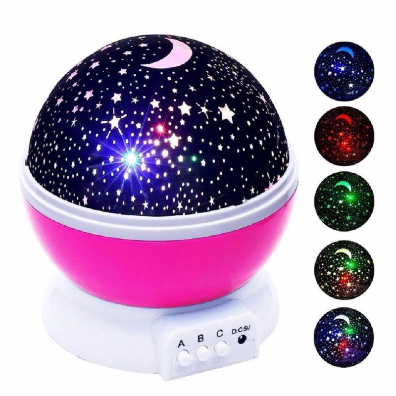Nouveauté Jouets Lumineux Romantique Ciel Étoilé LED Night Light Projecteur Batterie USB Night Light Creative D'anniversaire Jouets Pour Enfants