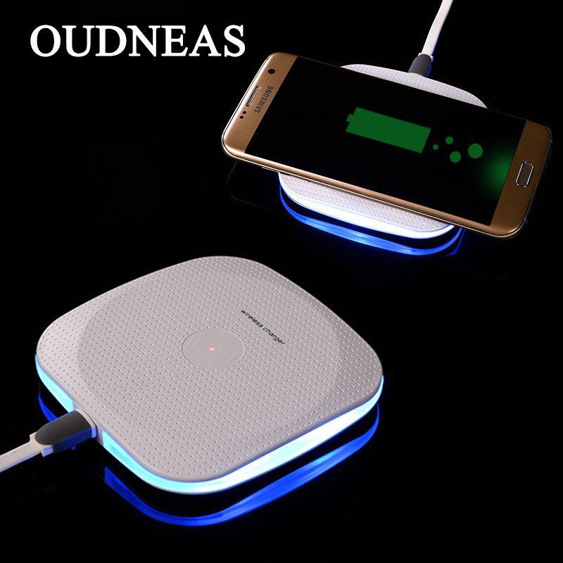 OUDNEAS Qi Sans Fil Chargeur pour Samsung Galaxy S7 Bord S8 Cellulaire téléphone Smartphone Charge pour iPhone X 8 7 6 De Charge Pad universel
