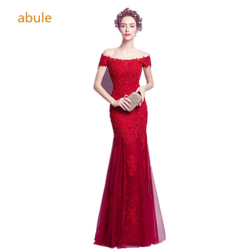 abule long Evening Dresses sexy party Long dress mermaid Vestido de Festa appliques beading gown strapless dress free shipping