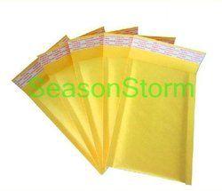 10 pcs/lot Bubble Annonces Capitonnées Enveloppes Petite Taille Kraft Papier Bulle D'air Enveloppe Sac Jaune Couleur