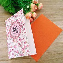 1 pcs/lot 145*97mm Vintage Romantique Fleur carte De Voeux avec enveloppe D'anniversaire Confession carte de voeux carte de message
