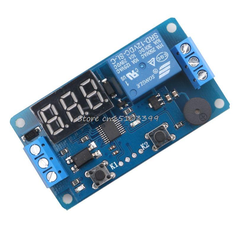 Neue DC 12 v LED Display Digital Delay Timer Relay Control Switch Module PLC AutomationBest Qualität