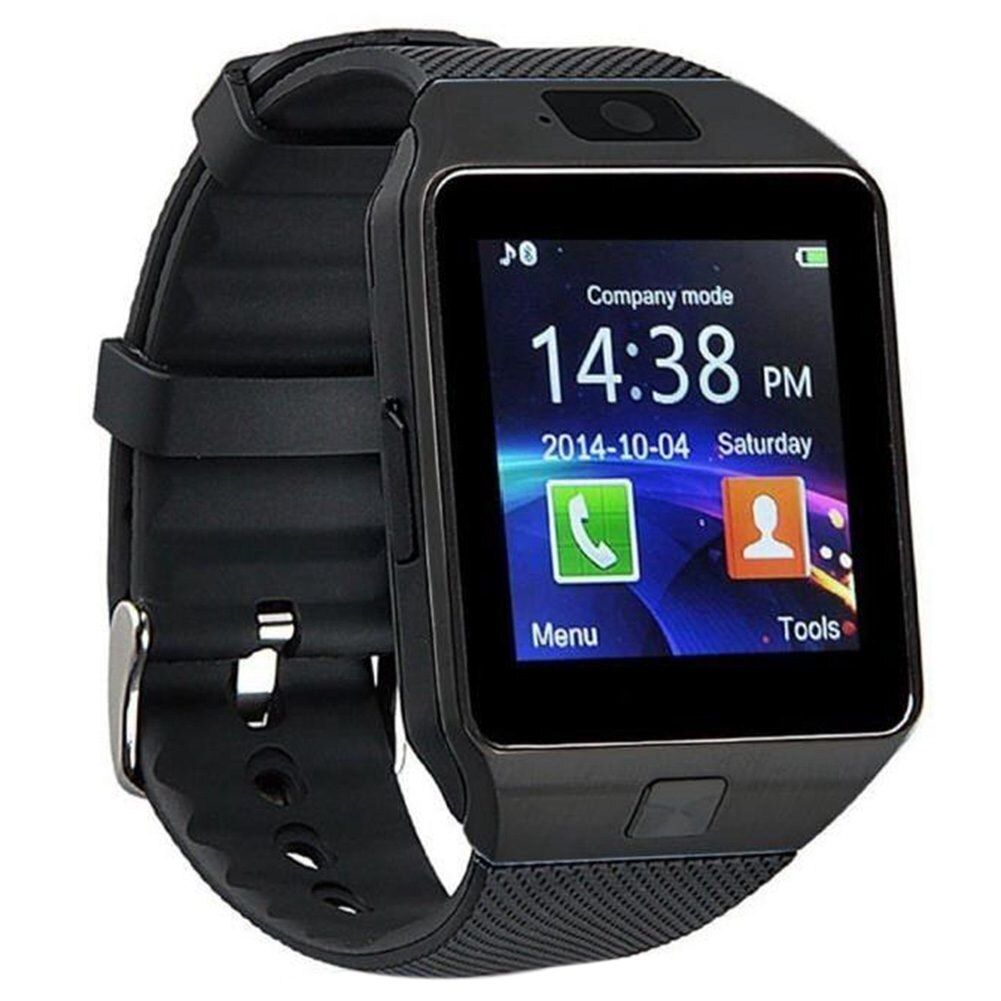 Top Angebote Bluetooth Smart Watch Phone DZ09 TF SIM Kartenhalter HD Sync Anrufer SMS für Android-Handy-schwarz