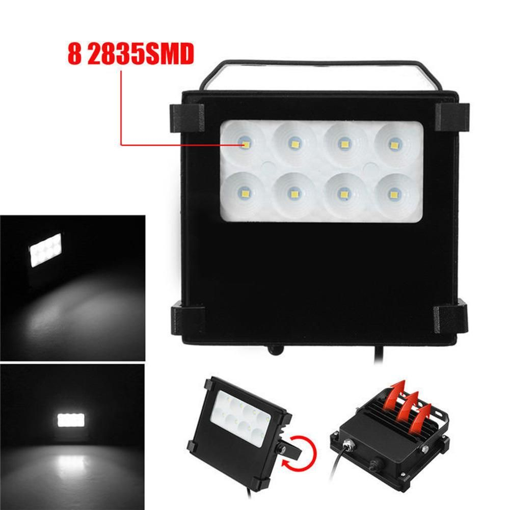 10 W Constant Current Highlight 8 LED Solar Lamp Garden Wall Lamps Lawn Floodlights With Remote Control Dropship 6.14