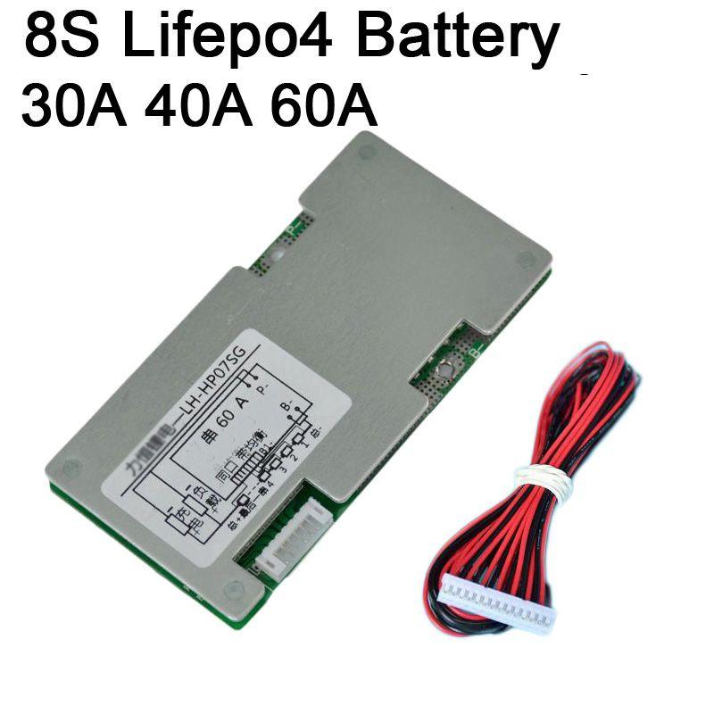 DYKB 8 S 30A 40A 60A Lifepo4 Lithium-eisen phosphat Batterie Schutz Bord Inverter W Balance Schaltungen 3 S 4 S 5 S 6 S 7 S Zell BMS
