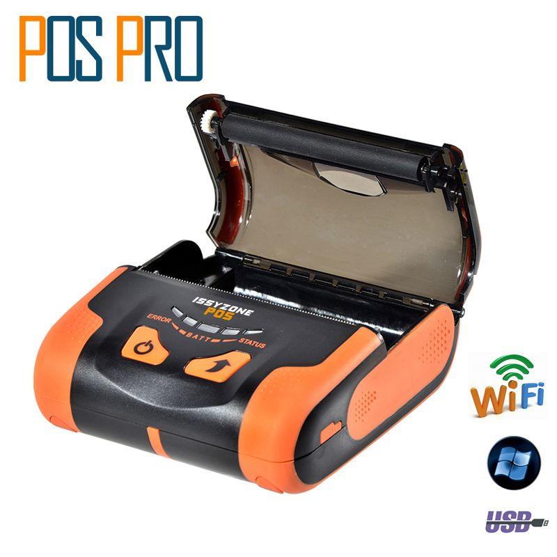 IMP013 USB und Wifi Port 80mm Mobile Wifi Drucker Pos Thermodrucker Drahtlose Für restaurant Arabisch Thai druck