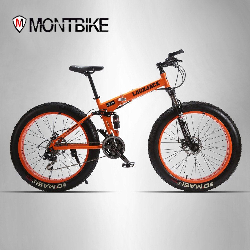 LAUXJACK 26 * 4.0 mountain bike bicycle dual disc brakes 24 snowmobile speed Bike wide wheeled ATVs part of Russia free Shipping