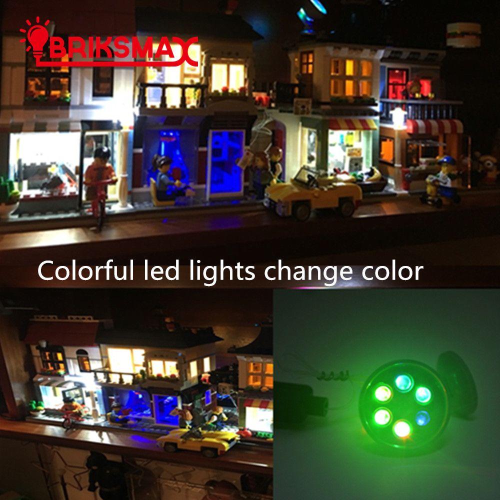 BRIKSMAX LED blocs de construction avec des lumières de LED coloré émettant de la lumière enfants jouets pour enfants cadeau de noël