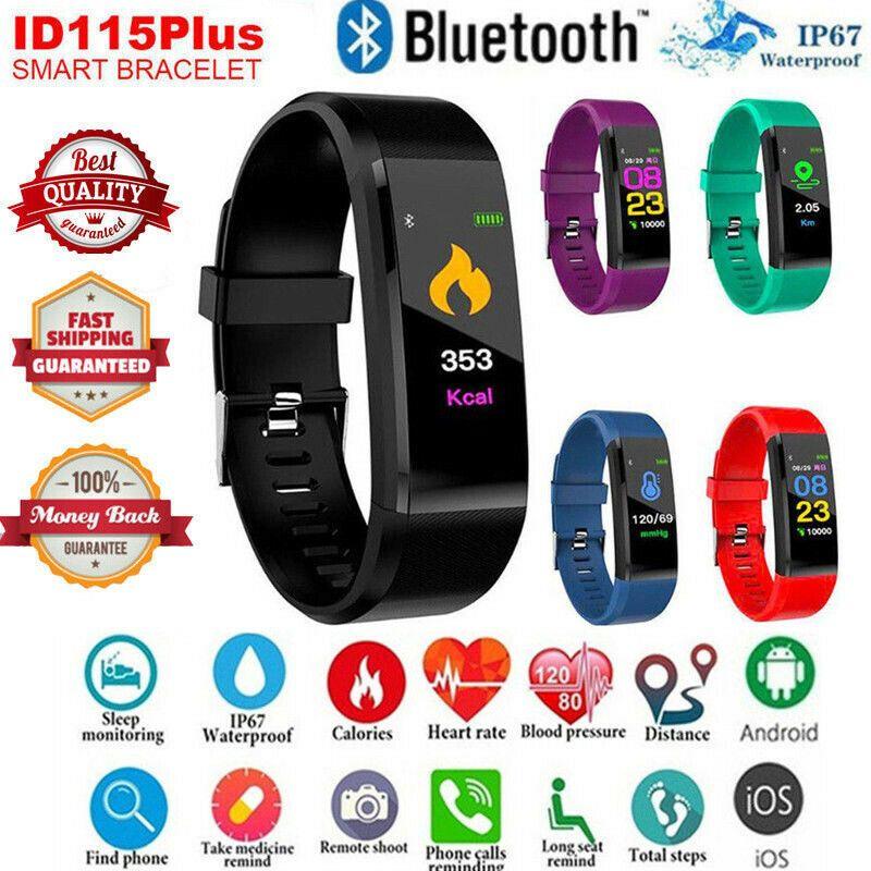 Smart Bracelet Sport Bluetooth Wristband Heart Rate Monitor Watch Activity Fitness Tracker 115Plus SmartBand PK Mi band 2