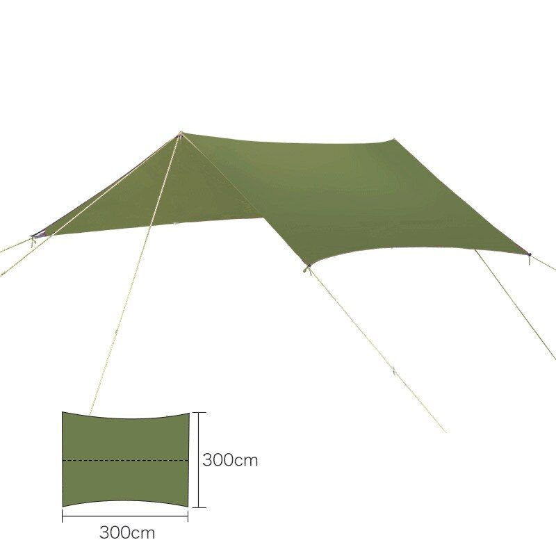 Ultraleichtflugzeuge Im Freien Tragbare Hängematte Markise Zelt Hängen verschleißfesten Große multifunktionale Matte Folding UV Wasserdicht
